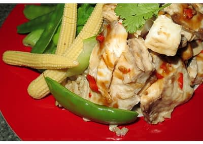 STEAMED MORWONG (or any other fish)