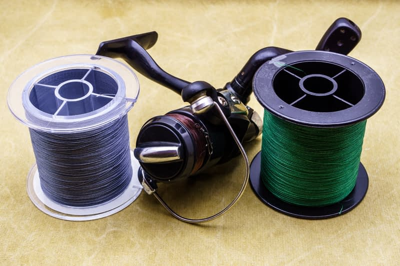 Spooling up is made much easier if you mount the reel on a rod first.