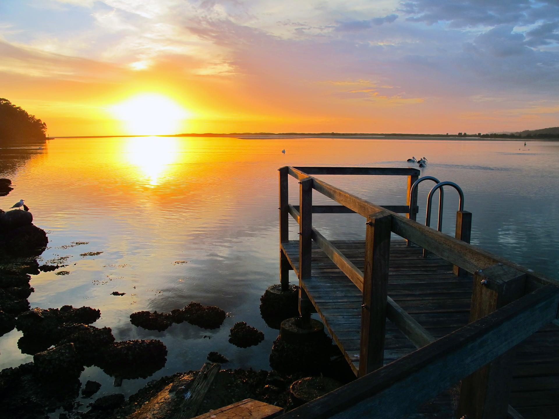 Sunrise from the boat ramp, Tuross Head, NSW.